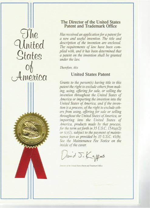 Bedeutender Erfolg auf dem Patentfeld